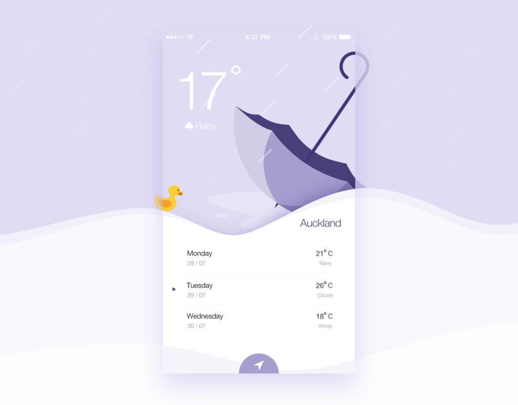 rainy weather app