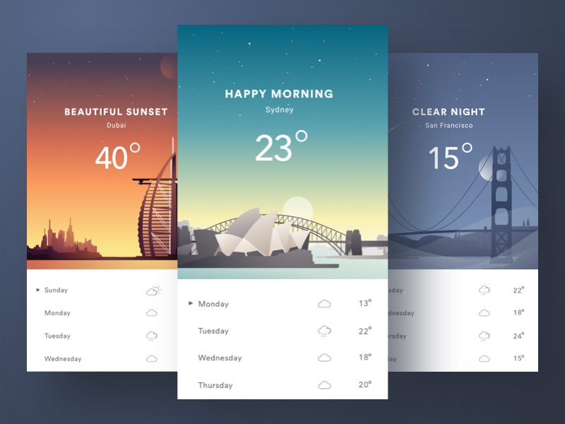 weather application concept