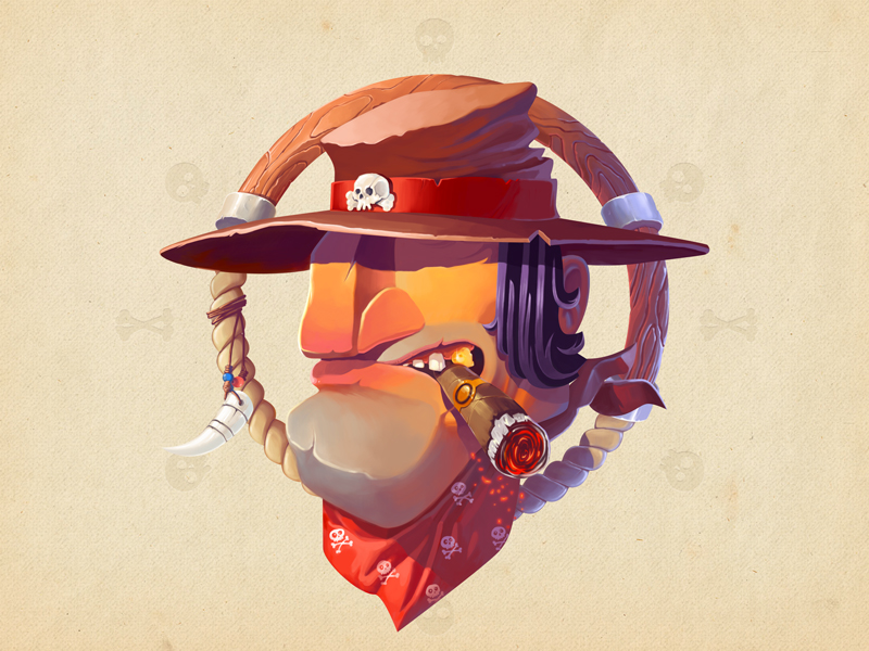 wild_west_bandit_tubik_illustration_art_design