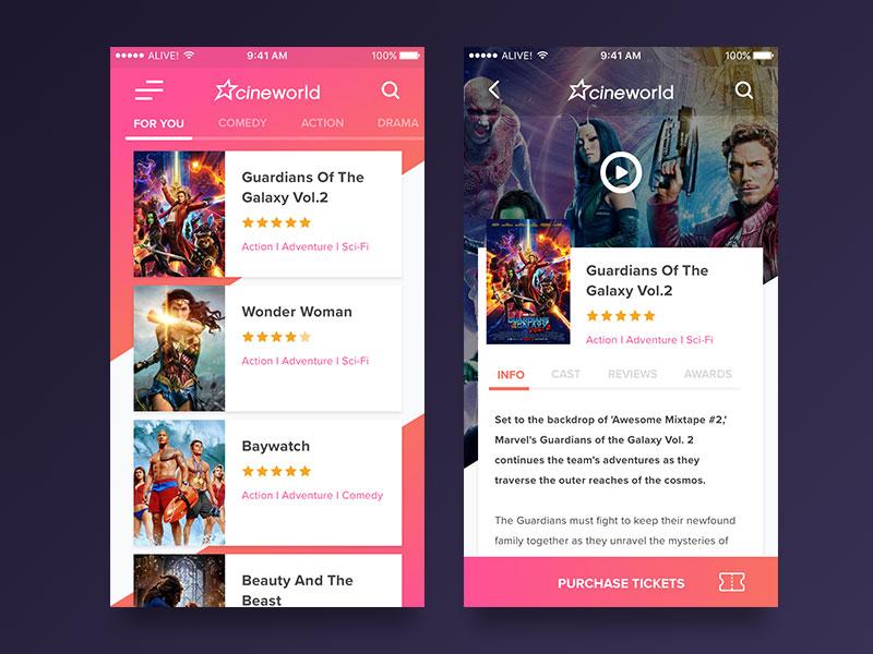 cinema-app-UI-concept