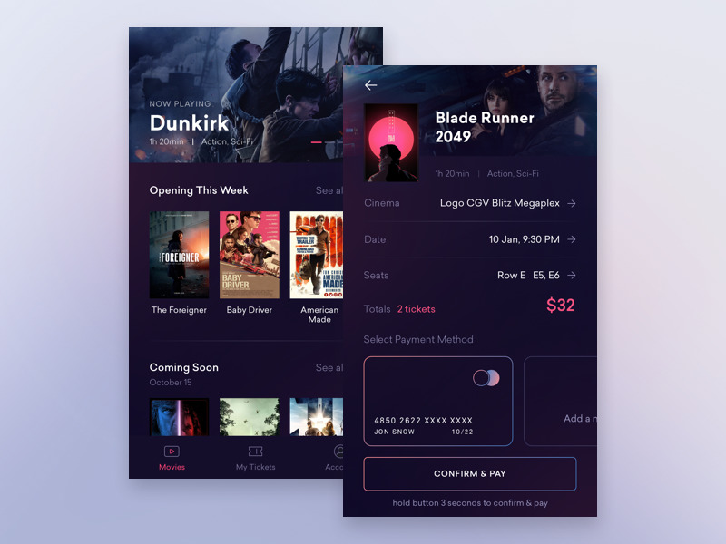 cinema-application-UI