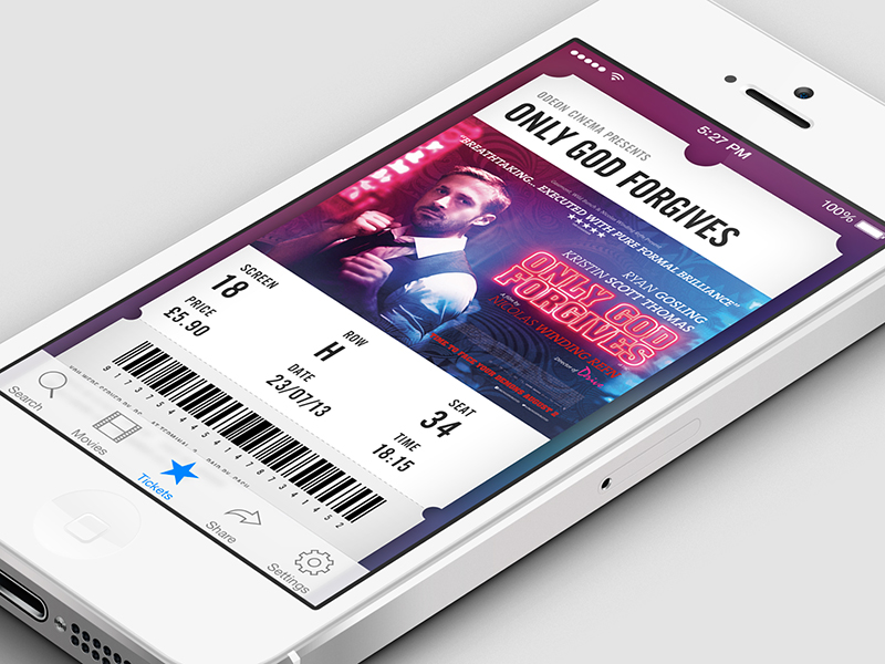 cinema tickets ui