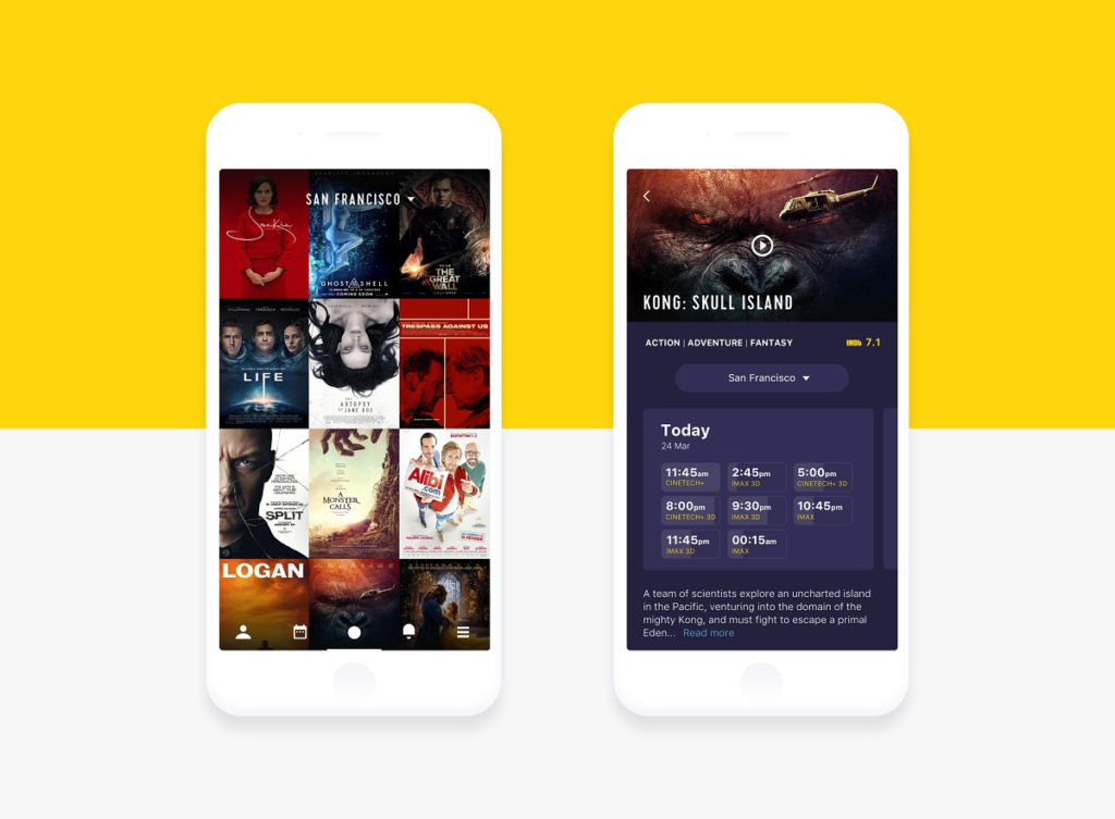 UI for Movies. Collection of Cinema App Designs.