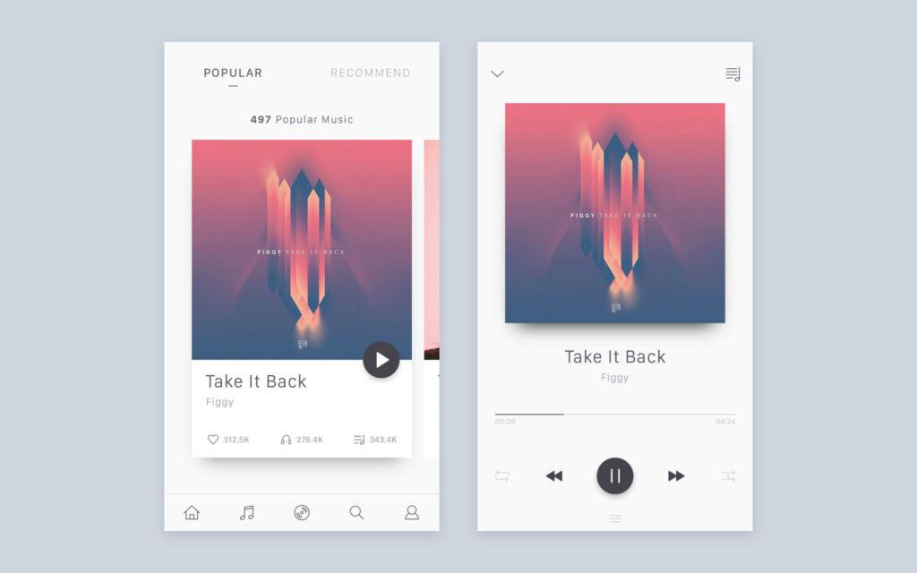 minimalistic-music-app