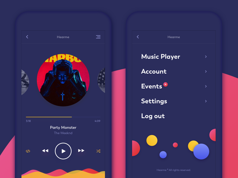 music-app-menu-design