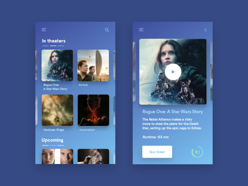 simple cinema app concept