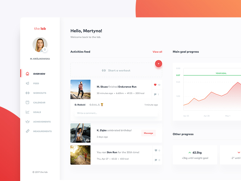 fitness-application-dashboard