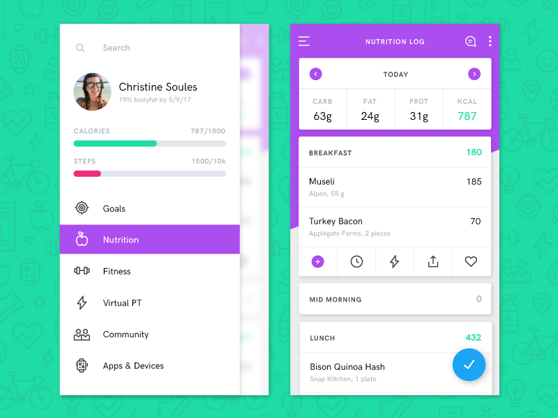 fitness-tarcker-application-UI