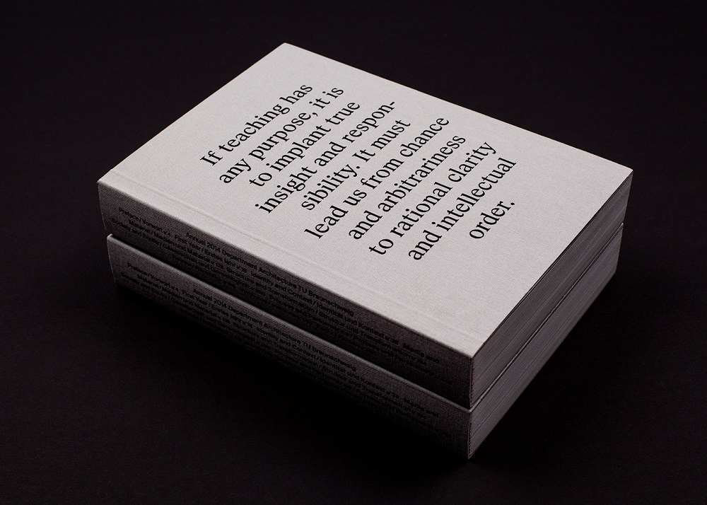 minimalist editorial book design