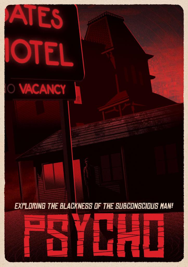 Psycho-movie-poster-design