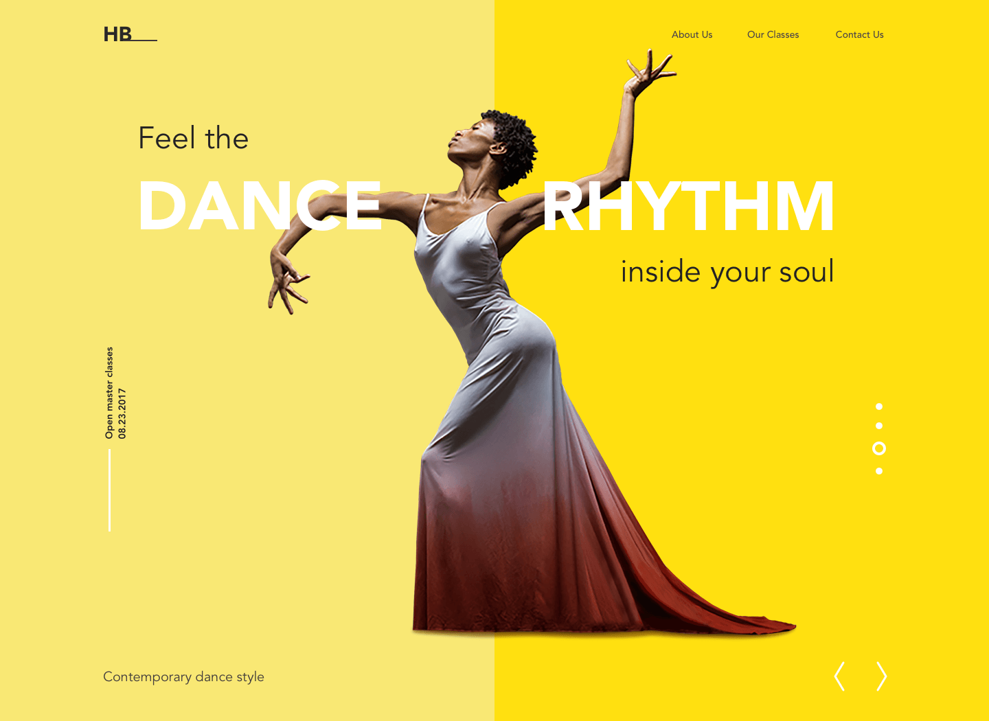 dance academy web design