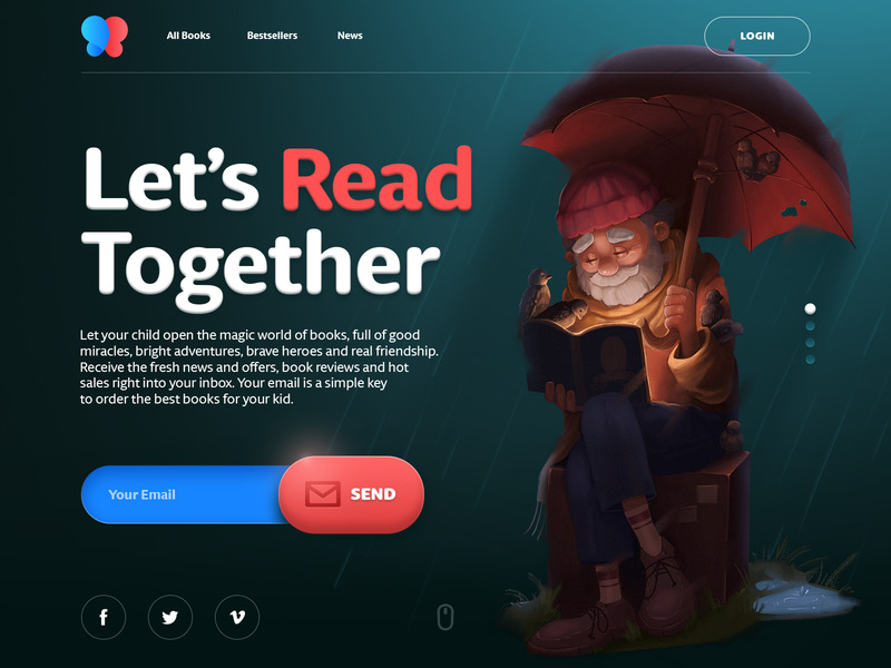 books for children website design