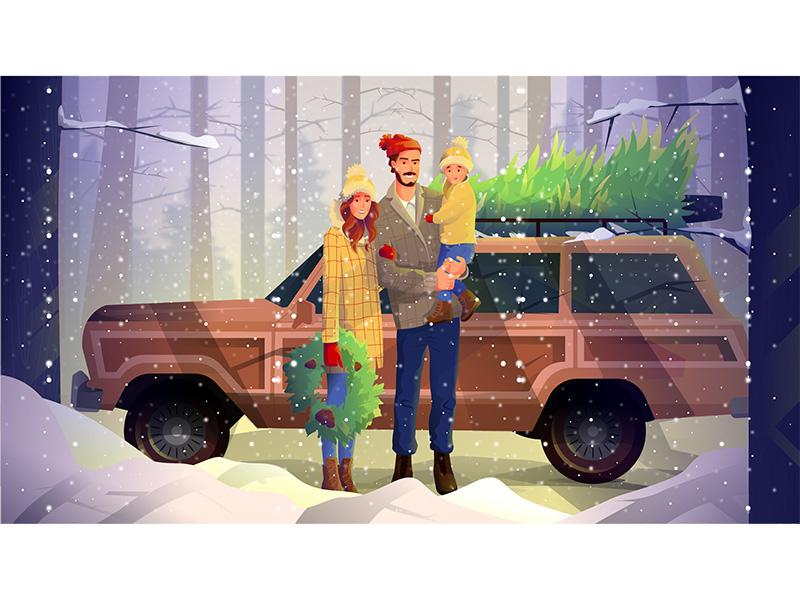 christmas illustrations digital art
