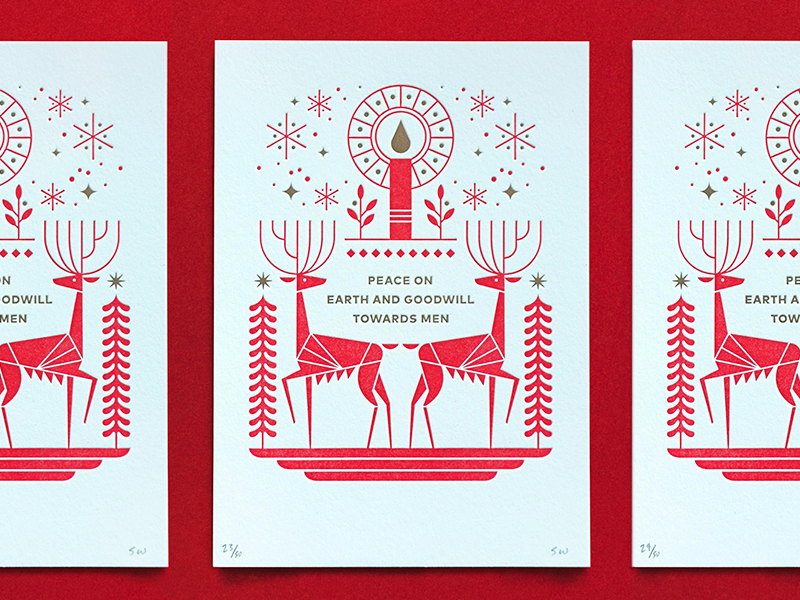 christmas deer illustration