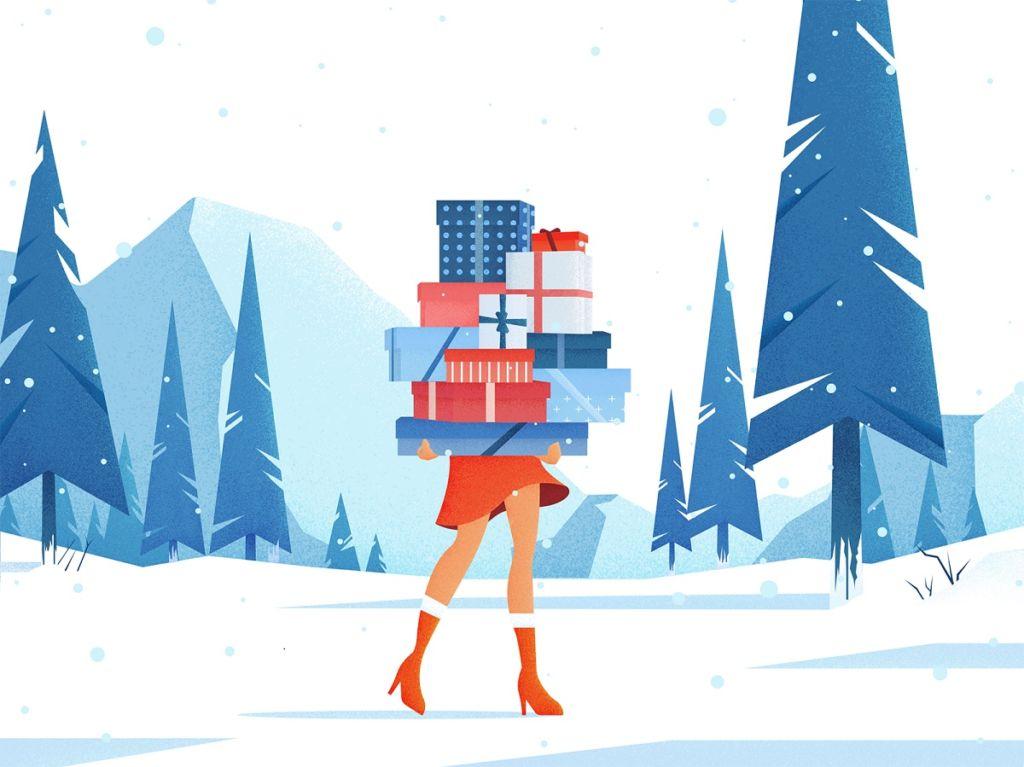 Holidays Are Coming: 21 Digital Illustrations Full of Christmas Spirit