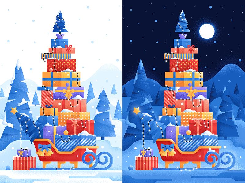 christmas gifts illustration