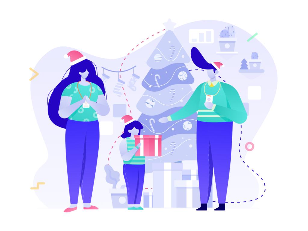illustration christmas new year
