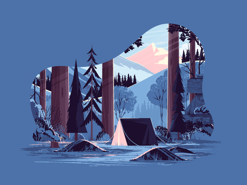 digital art illustration winter