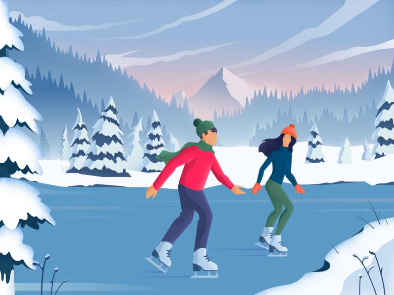 digital art winter illustration