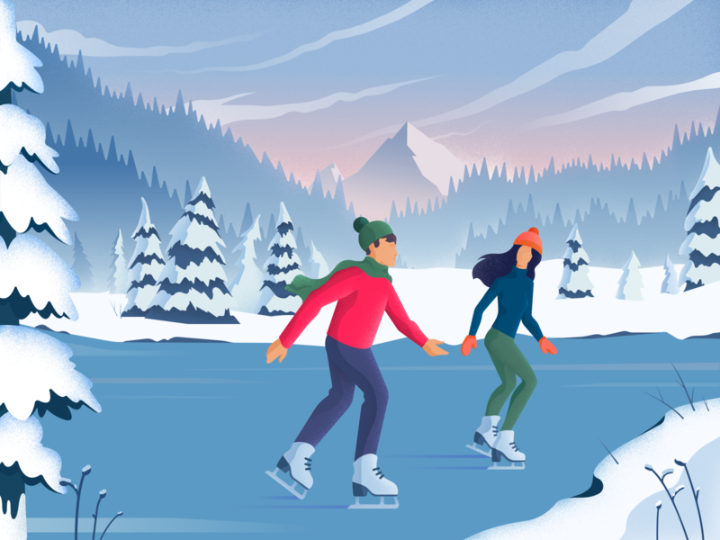 digital art winter illustration