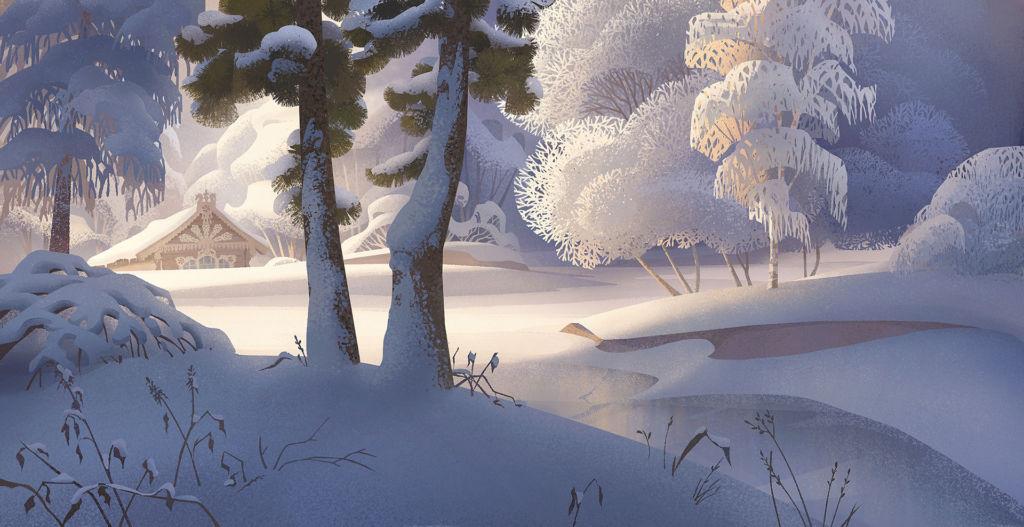 digital illustration winter