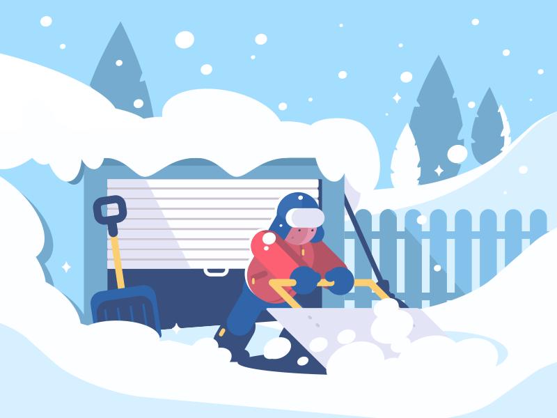 digital illustration snow winter