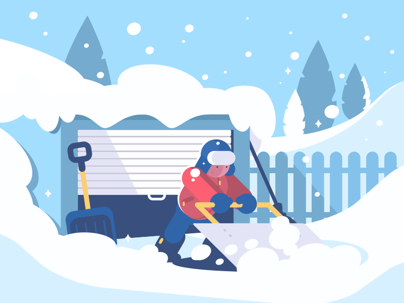 digital illustration snow winter