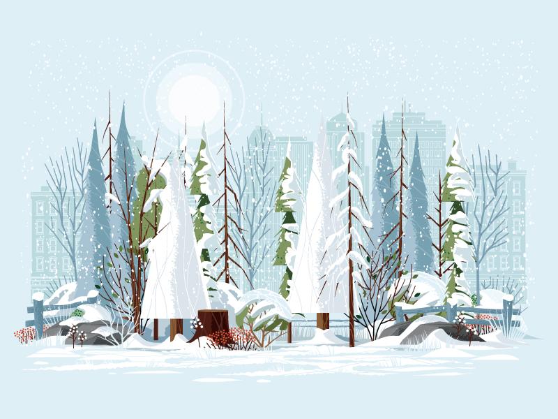 winter illustration design