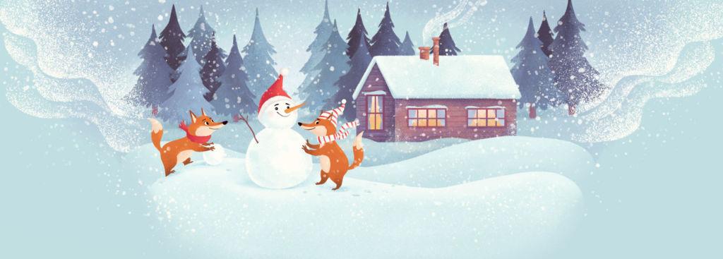 winter illustration digital art