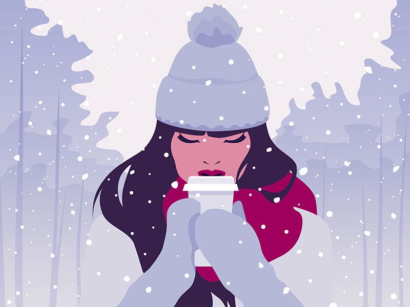 winter illustration snow
