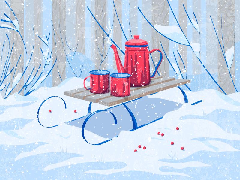 winter digital illustration