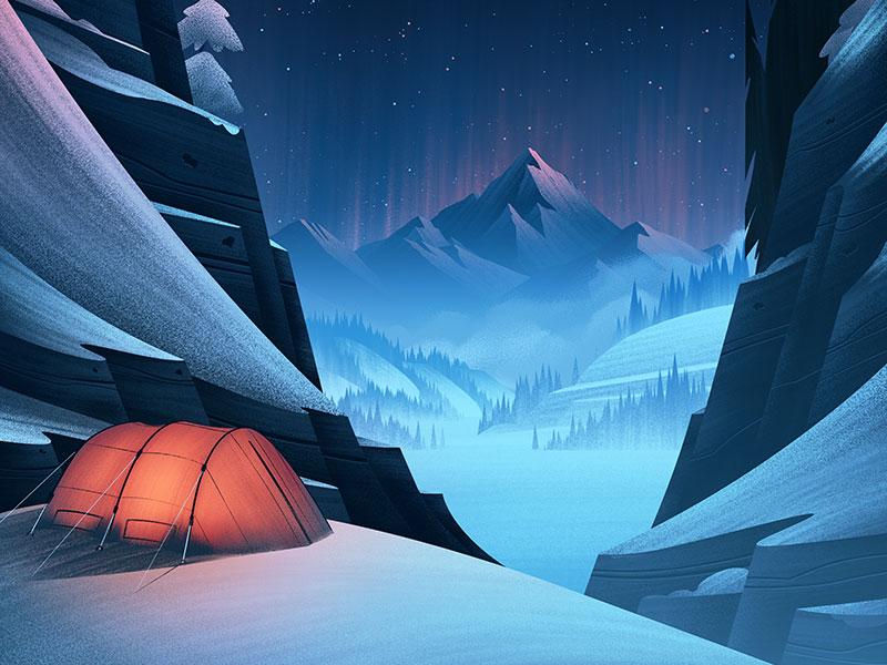 winter snow illustration