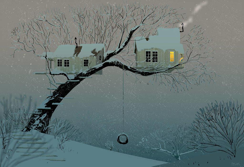 winter time digital illustration