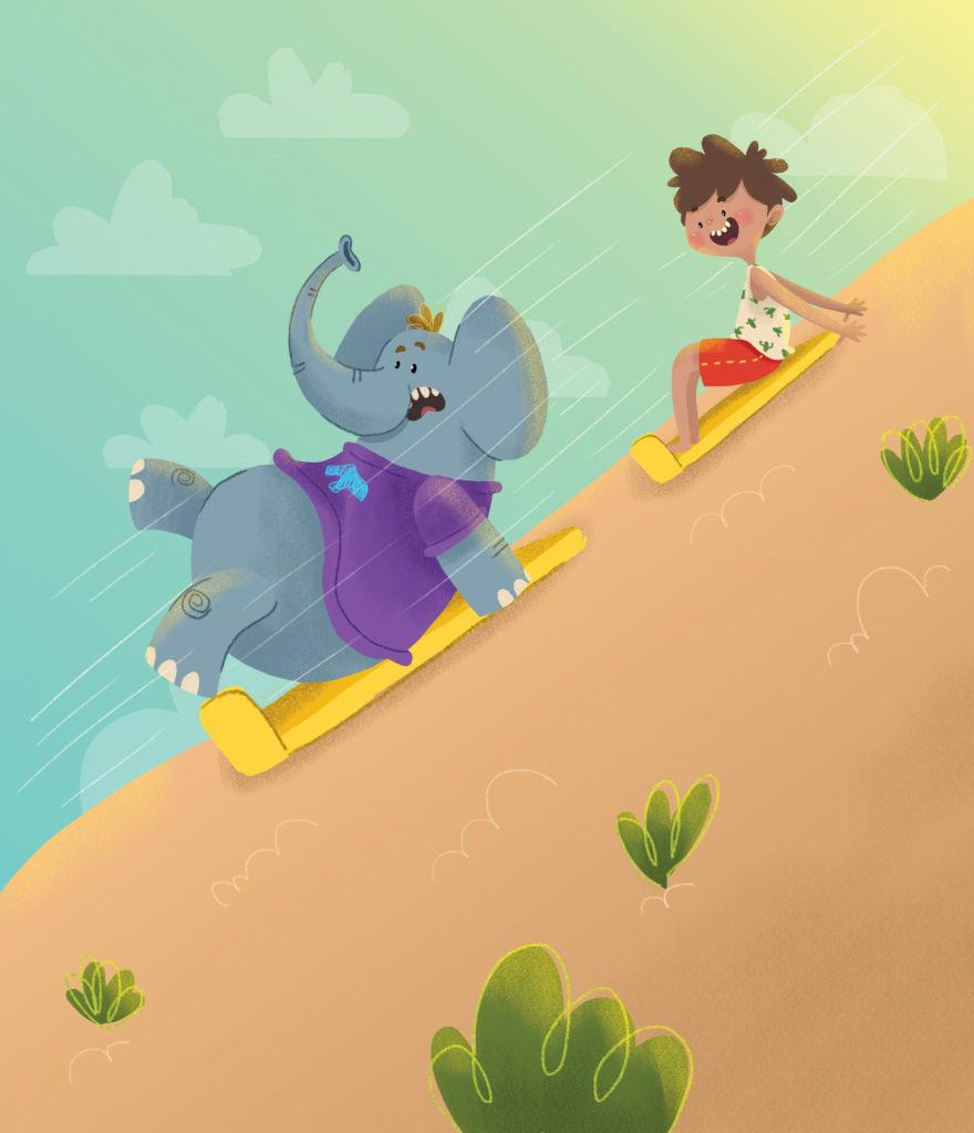 digital illustration cute children book