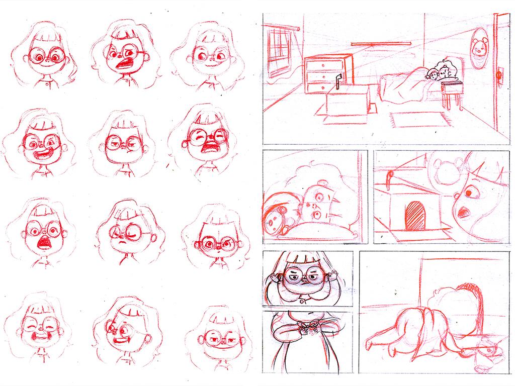 sketches character design illustration