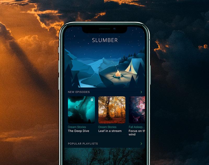 slumber app ui design