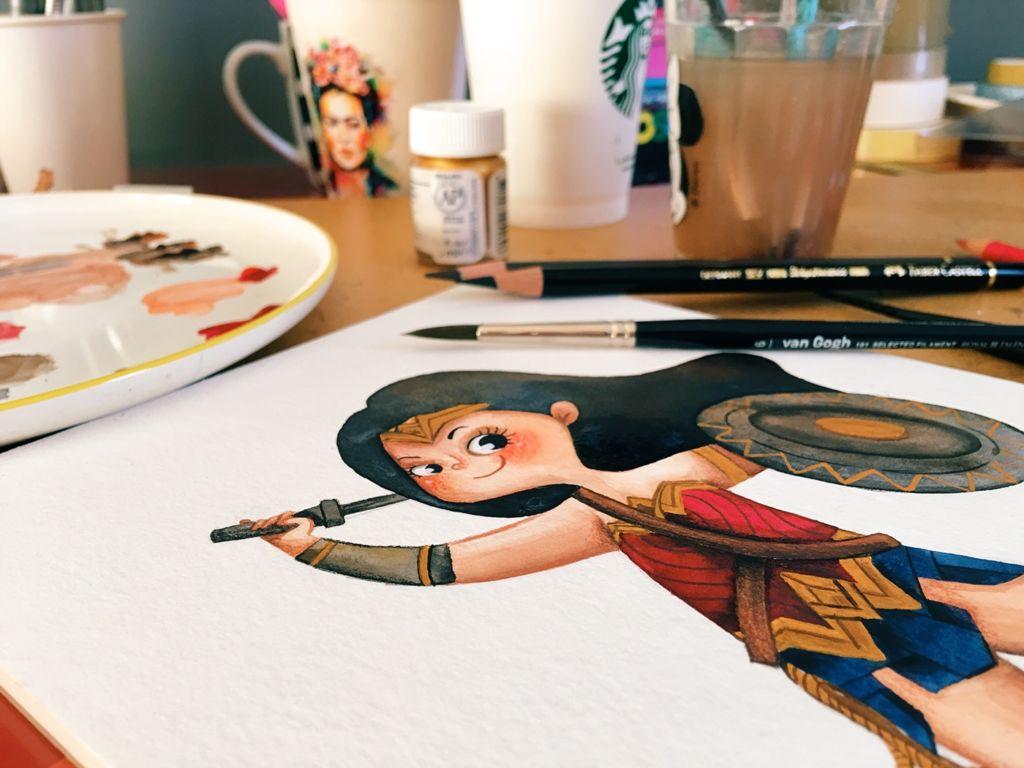 wonder woman illustration art