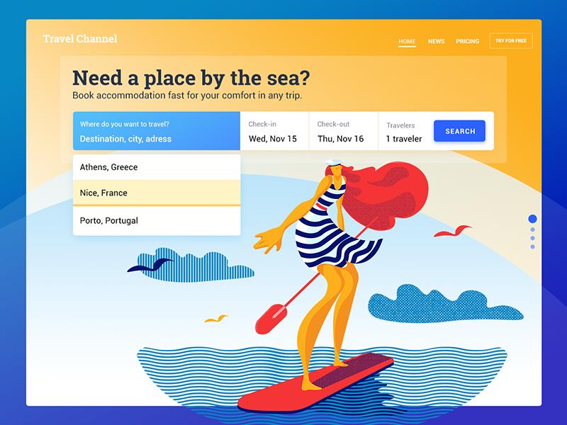 booking service UI design