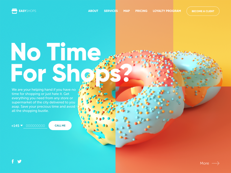 shopping delivery web design