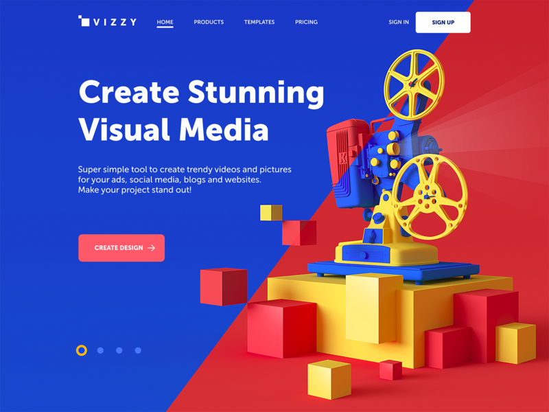 visual media creator website