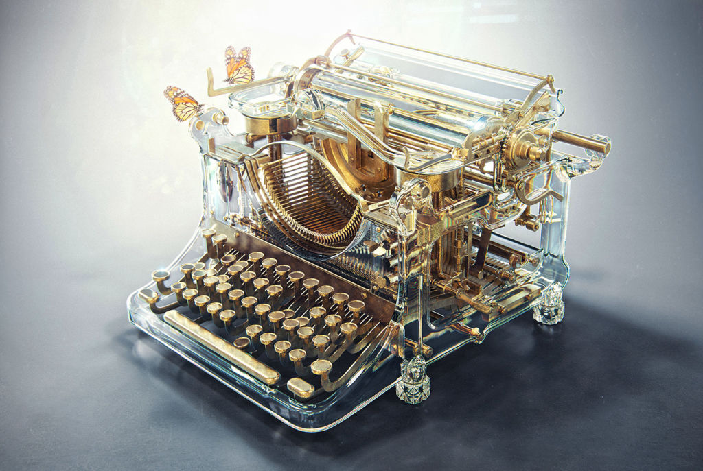 alex kuskov typing machine 3D