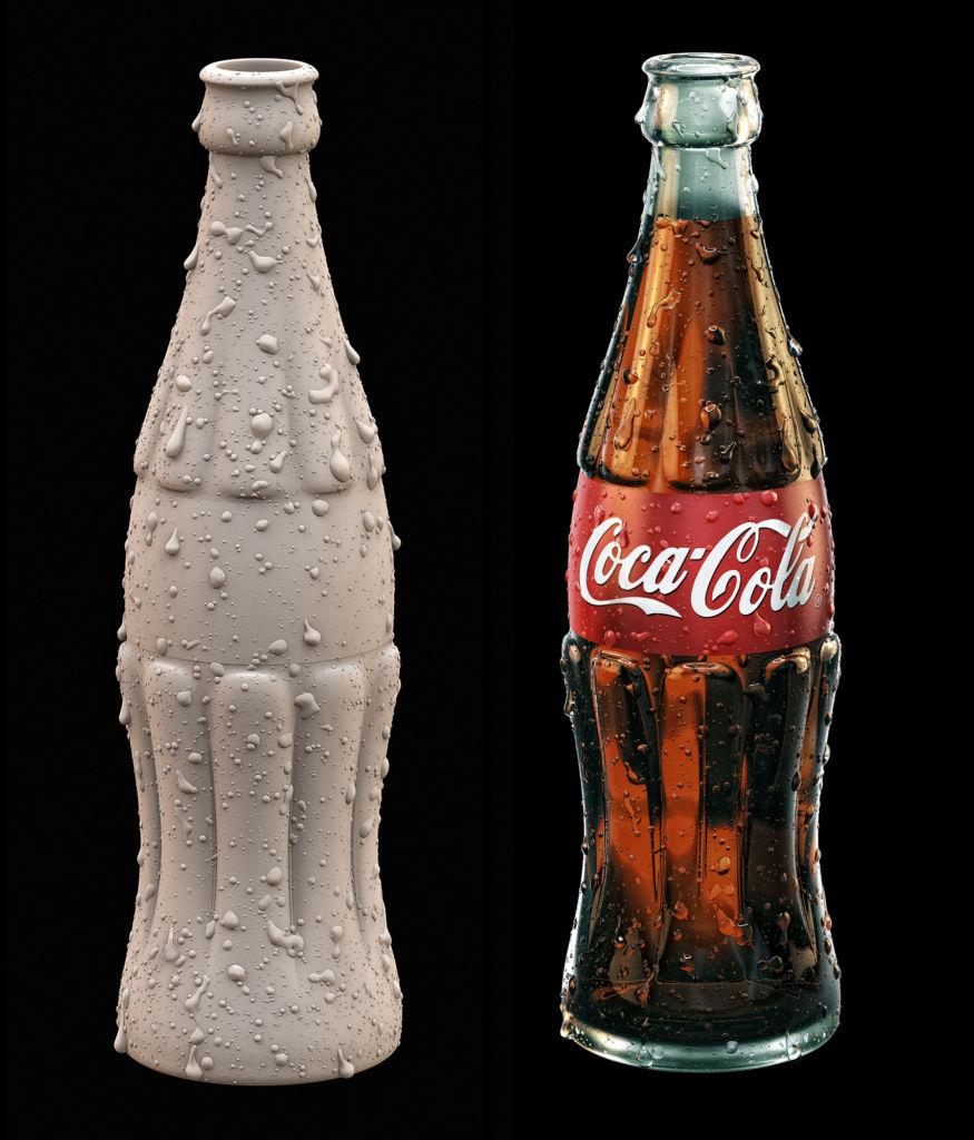 coca cola 3D art
