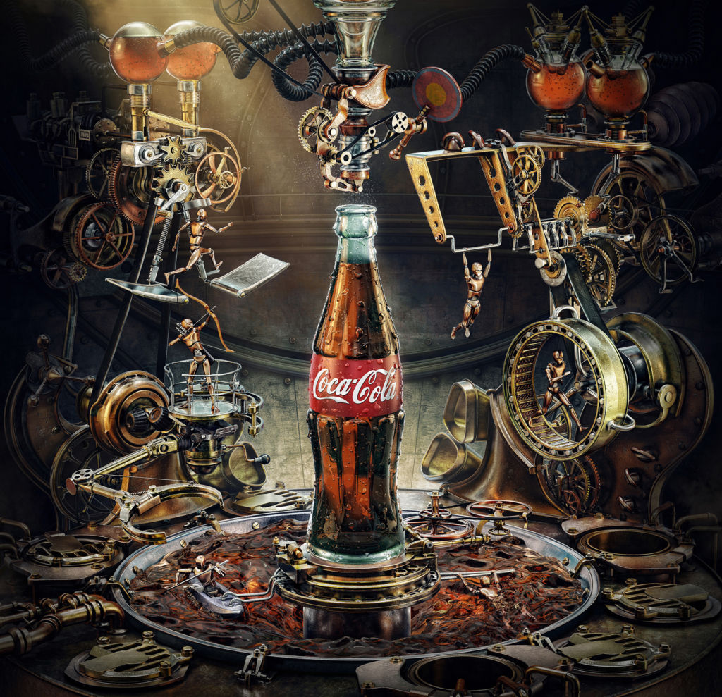 coca cola olympic games 3D art