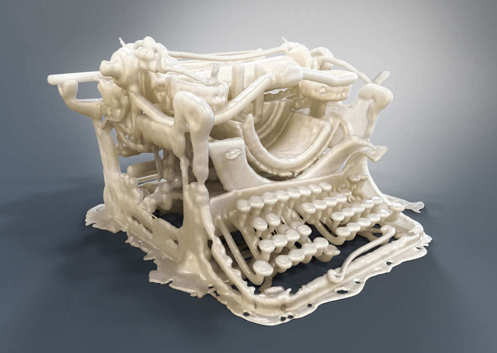 typing machine 3D