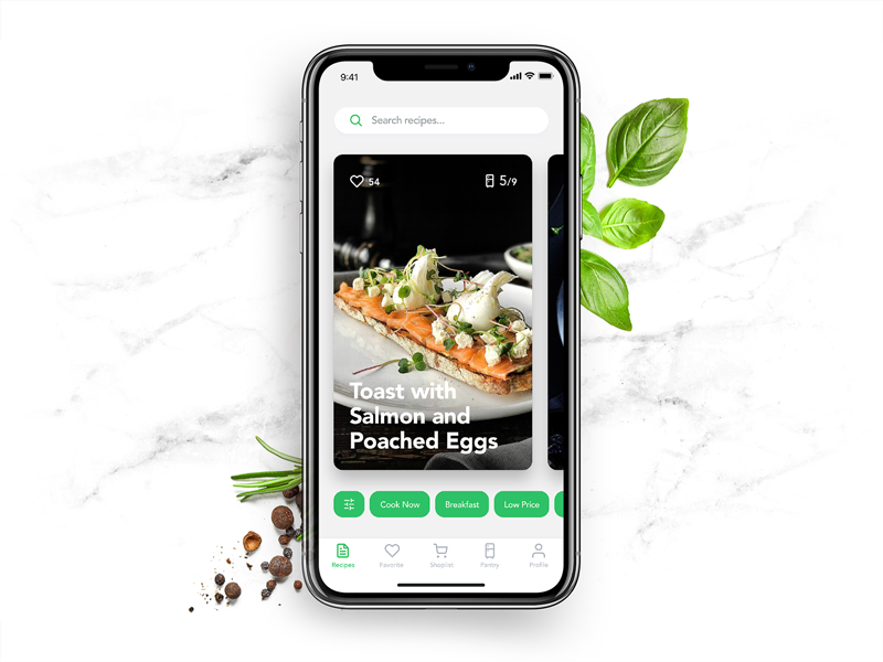 perfect recipe app design