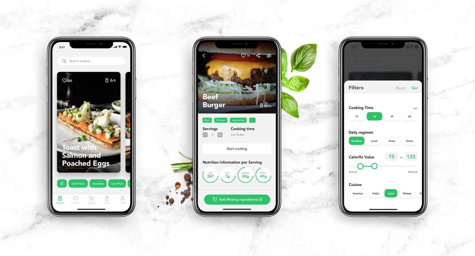 perfect recipes app design