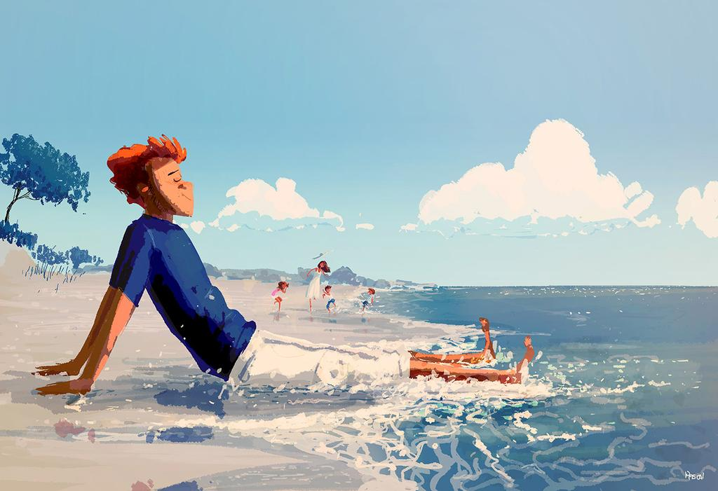 Illustration Art: 40+ Shiny Summer Illustrations by Pascal Campion