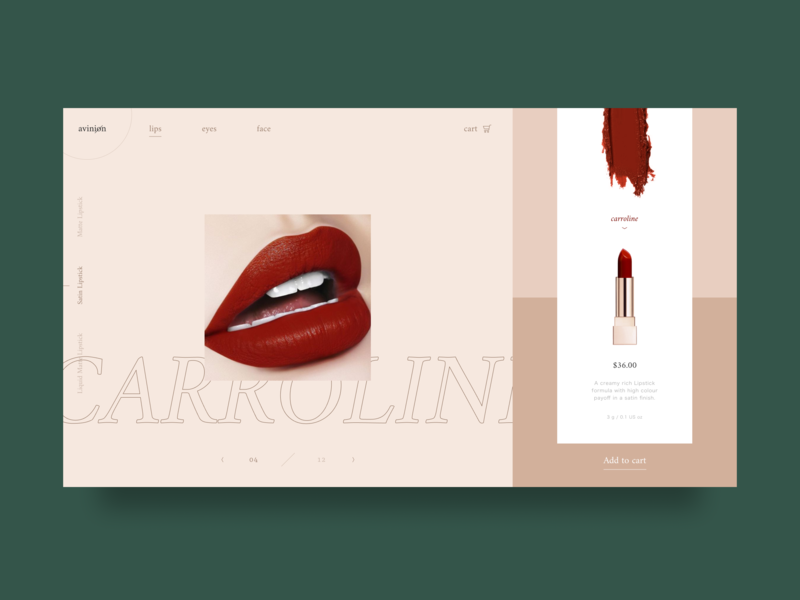 beauty ecommerce website design