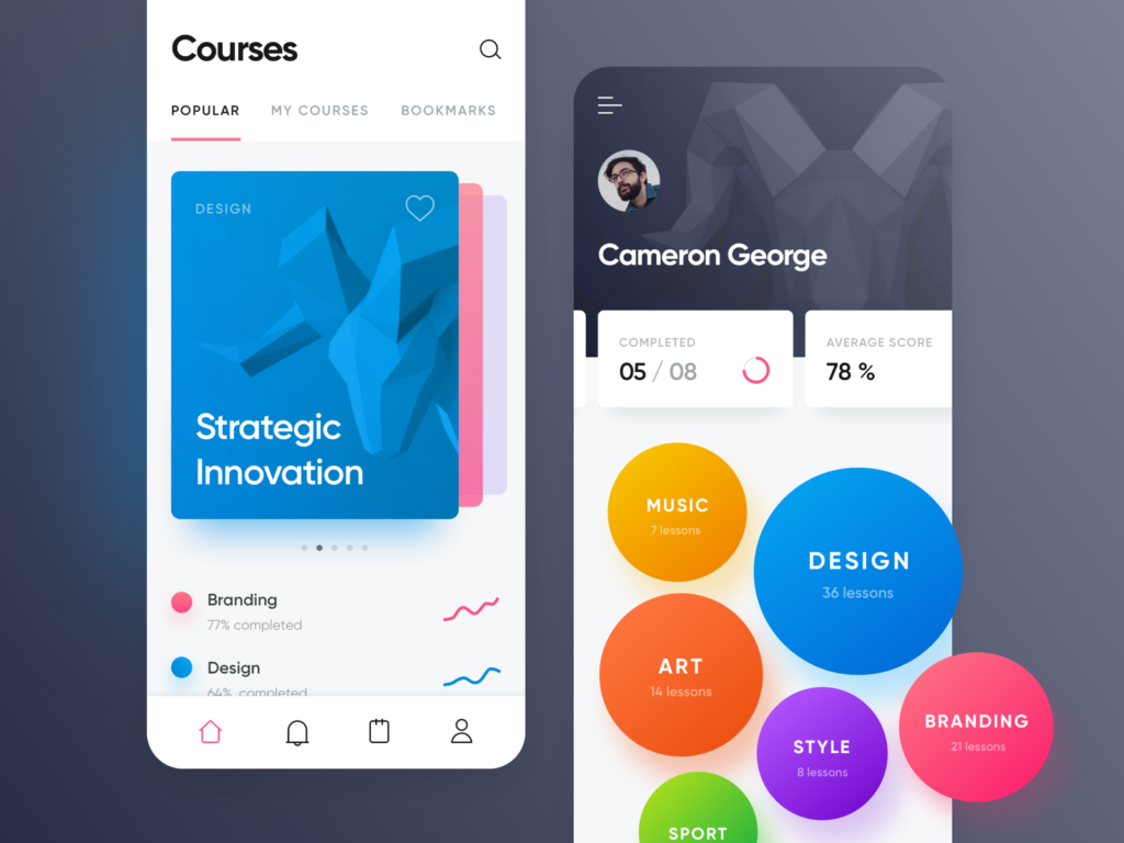 courses and topics education app
