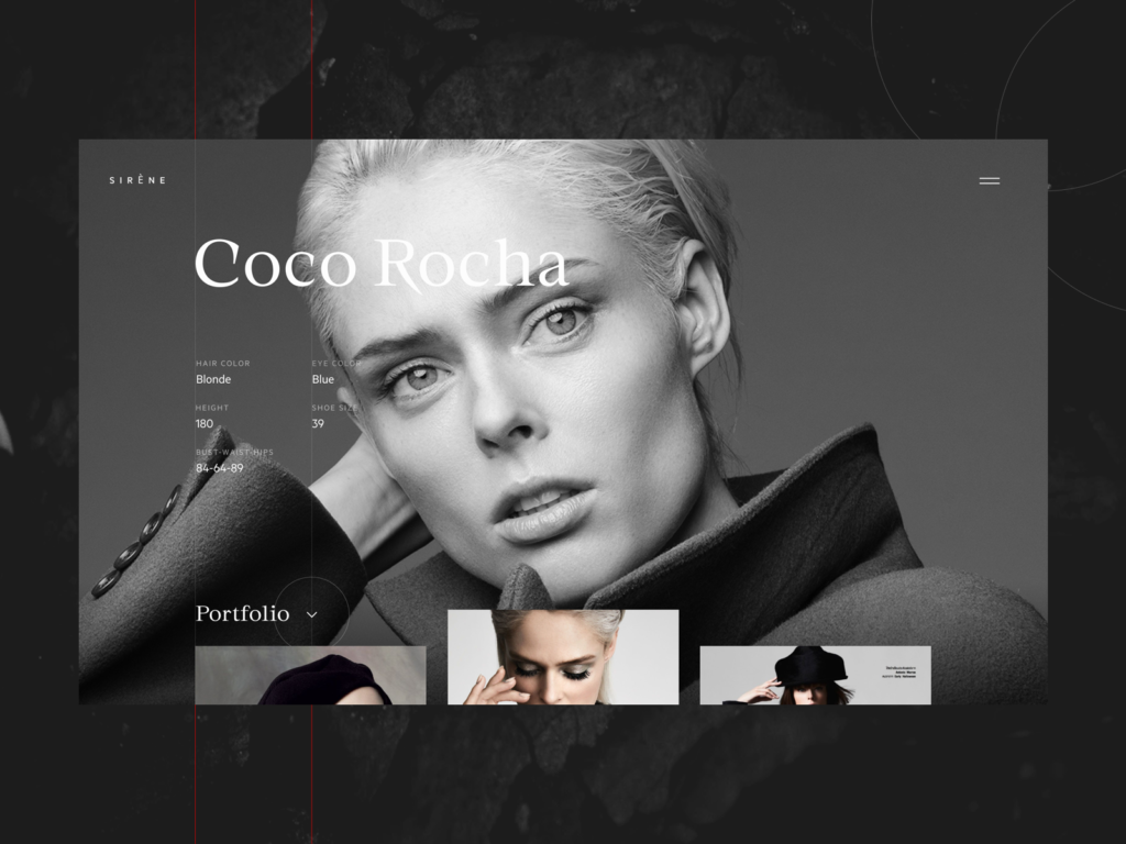 fashion model portfolio website design
